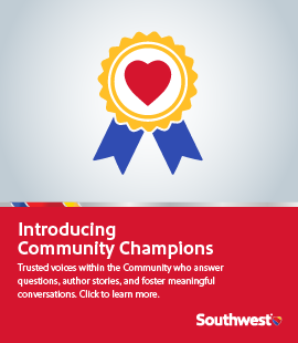 Community Champion promotion banner