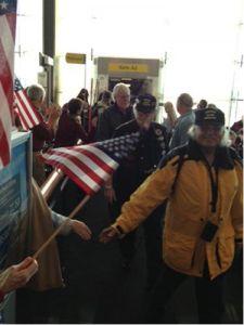 The trip to the Vietnam War Memorial in Washington begins at Sky Harbor. (KTAR Photo/Holliday) Moore