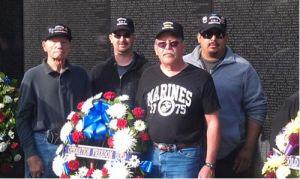 At the Vietnam Memorial in Washington, Nov. 11, 2013.(Photo/Bradley Heck)
