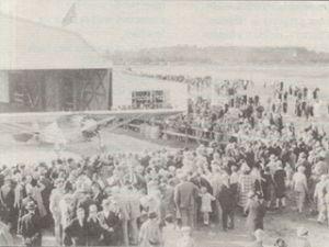 Lindbergh's Spirit of St. Louis at Byrd Field*
