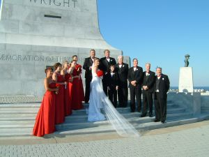 Sharing my birthday with the anniversary of flight and being a Flight Attendant married to a Pilot (who flies for Virgin America).  What better spot to get married?!