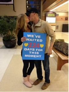 Olivia Wynia shared this photo of her brother, Jacob Wynia, and his fiancé, Jessica Preston, upon Jacob's homecoming from pre-deployment leave last month. On December 10, Jacob will be deployed. The couple plans to marry when Jacob returns from deployment in July.