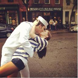Lauren Berry and her boyfriend, Tom, were visiting family in New Jersey when they decided to swing by the city during fleet week. Tom serves in the Navy as an Explosive Ordinance Disposal Technician and is currently deployed to Afghanistan.
