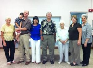 With my family and Jim Smith's church acquaintances in Florida