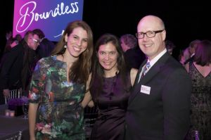 Jill Simonson, Diane Paulus and Bruce Whitacre at the A.R.T. Gala in Boston