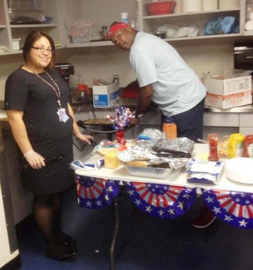 Reagan National Employees also recognized Memorial Day with a cook-in for the staff!
