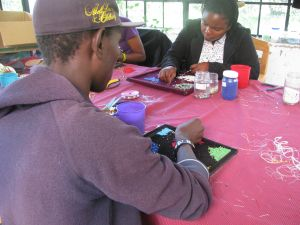 At Life Beads Kenya, teaching beading skills helps young adults find new lives.