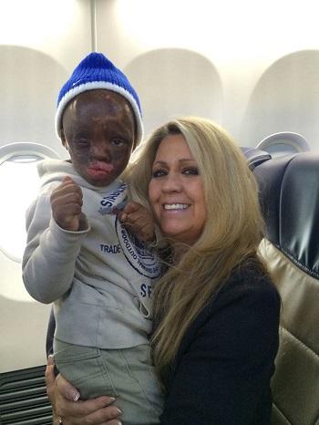 Leo with Phoenix-based Flight Attendant Judy.