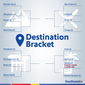 The Destination Bracket has been updated due to destination tending.