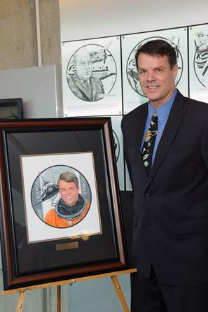 Kevin was honored alongside the late aviator and philanthropist Harry Guggenheim and the late World War II Ace Francis Gabreski. This plaque will be on the display at the Cradle Museum of Aviation.