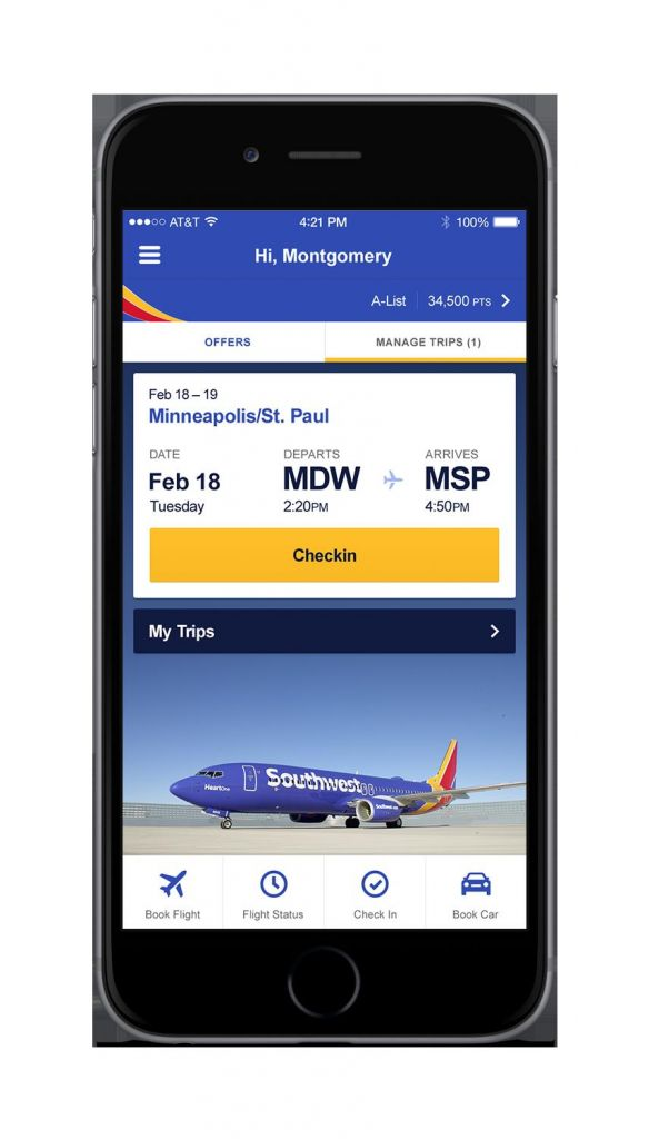 hello updated mobile app for ios users the southwest airlines