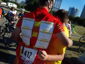 Ed participating in the 2015 LIVESTRONG Challenge in honor of loved ones