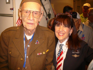 Lynnie and one Honor Flight Customer/Hero.