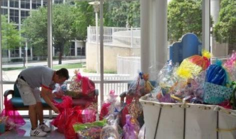 Easter Baskets at Children's Medical Center
