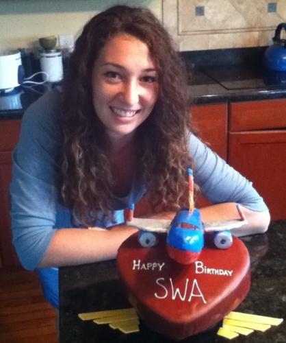 Julia With Cake