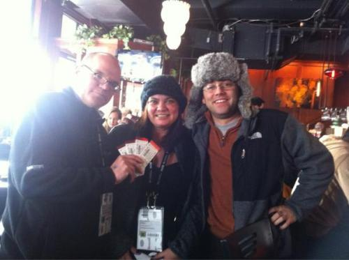 Ticket Winners Gary and Erica