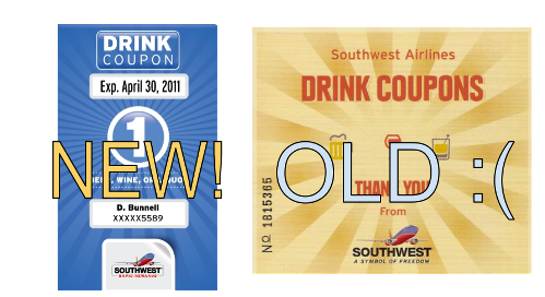 How to get southwest drink coupons