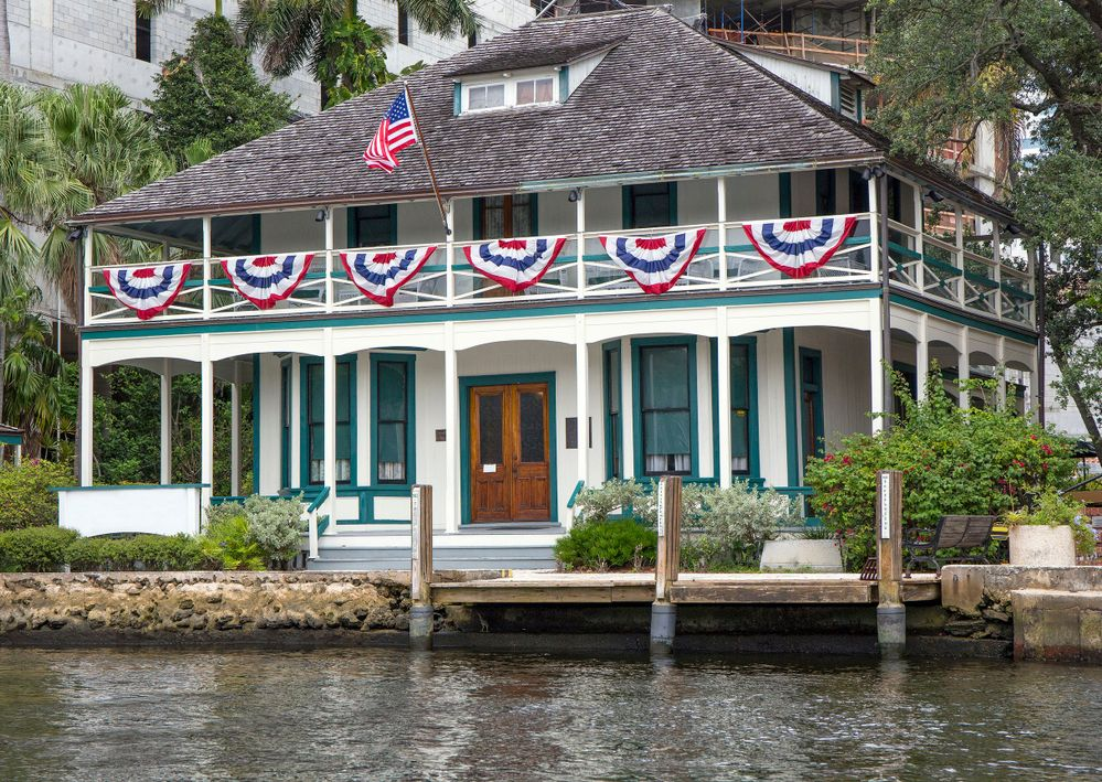 Stranahan House, the oldest building in Fort Lauderdale, originally built as a trading post