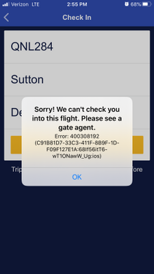 Here is a screen shot of the error message.
