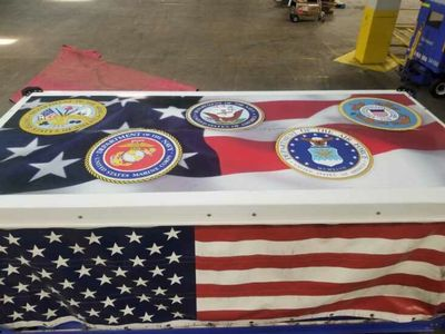 The decorated MHR cart in Atlanta