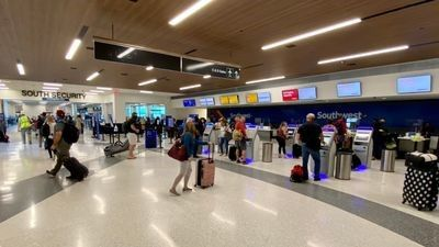 Southwest ticketing and south security checkpoint