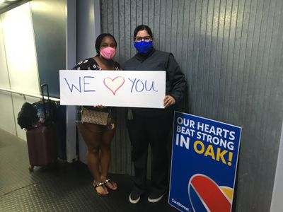 Southwest Airlines Supports Healthcare Heroes in Oakland.JPG