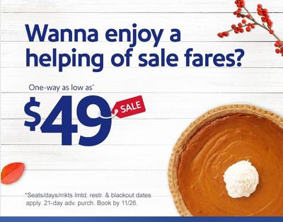 Gobble Up Our Latest Fares