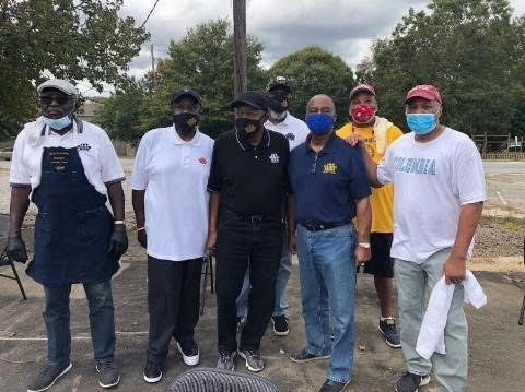"South Metro Atlanta Members volunteering at ""Voice Your Vote"" event (October 2020)"