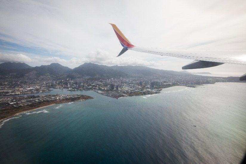 Honolulu, Oahu (HNL) from the air (Stephen M. Keller, Southwest Airlines, Co.)