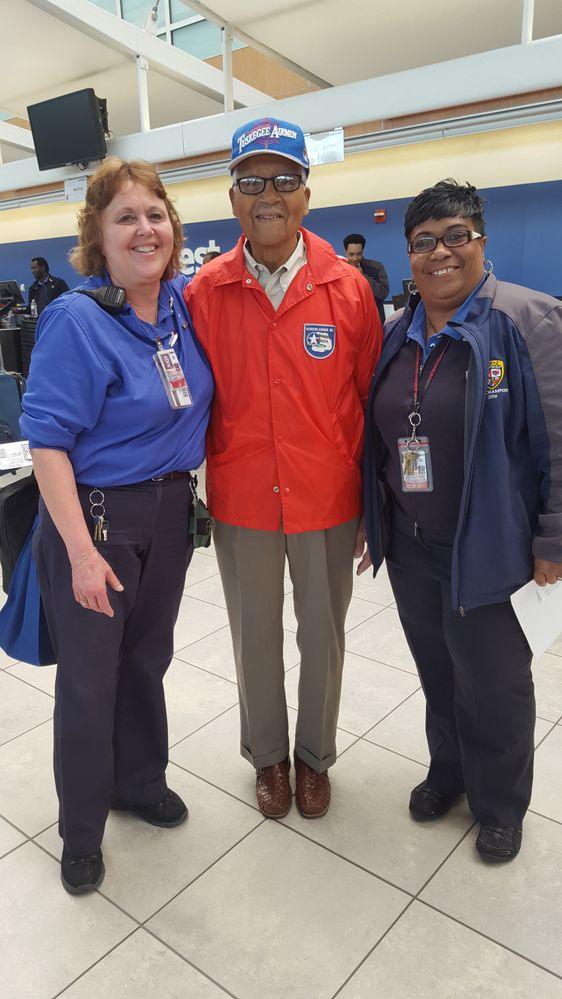 BWI Employees meet Col. McGee