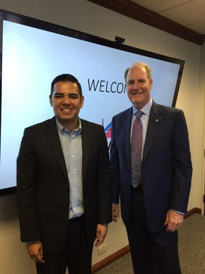 Southwest CEO Gary Kelly met this afternoon with Long Beach Mayor Robert Garcia to share the new service we'll be starting as a result of the city's allocation of two additional slot pairings.