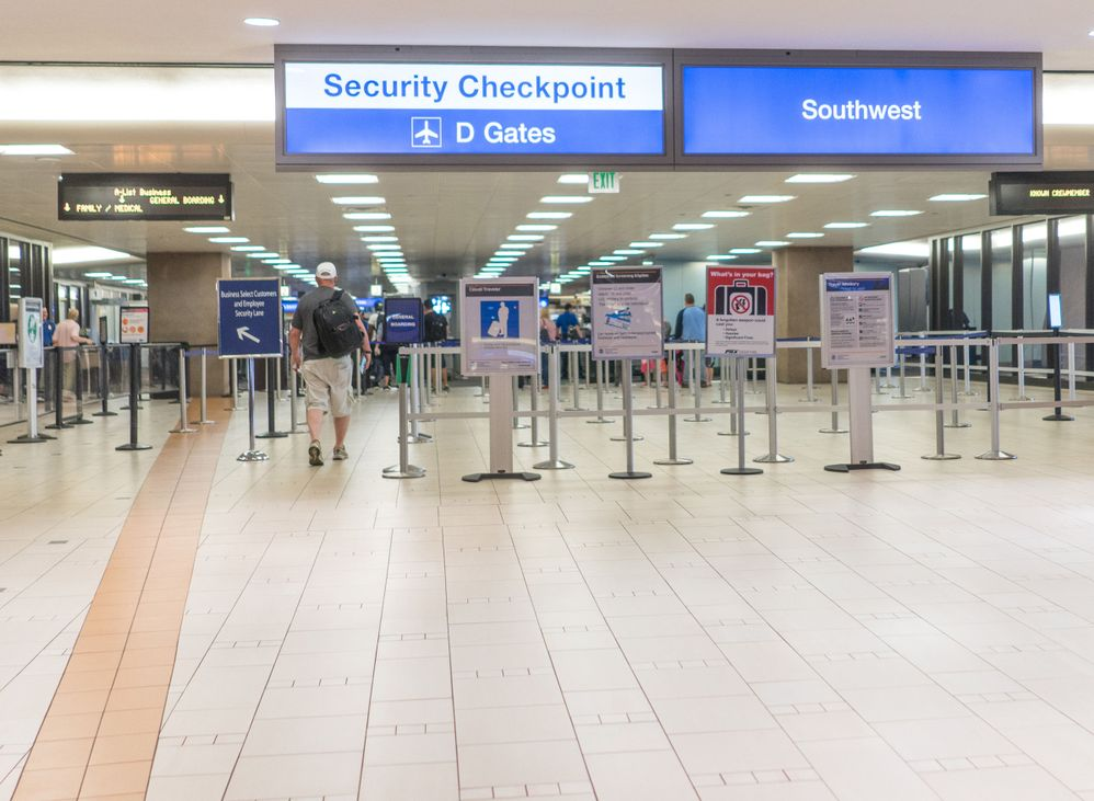 TSA Checkpoint Arizona, PHX