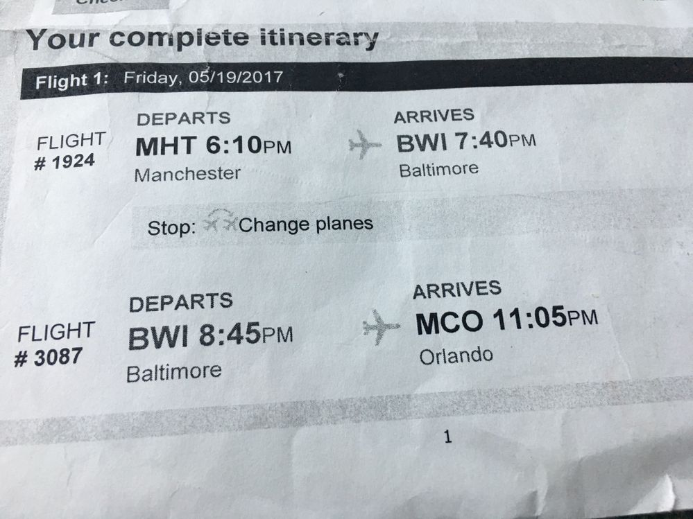 I apologize it was Maryland. BWI. This is flight. Thanks