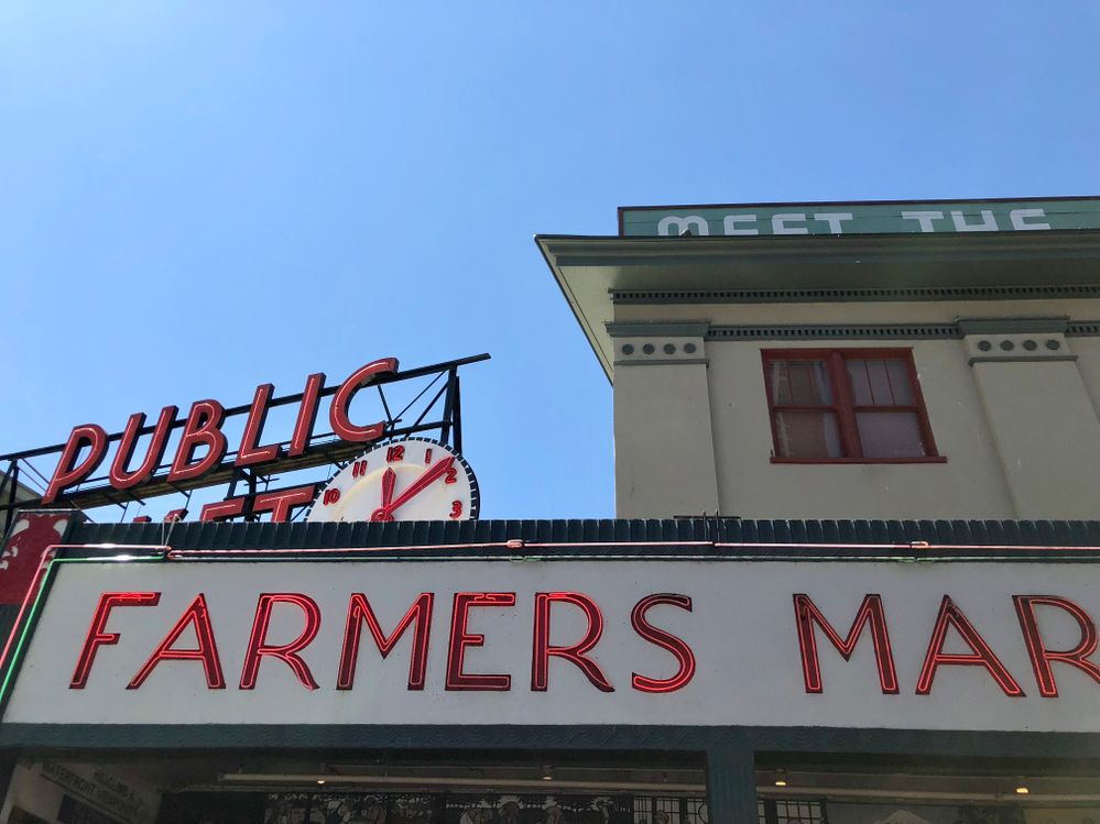 Stop by Pike Place Market to sample fresh fruits, browse artisan crafts, sip on great coffee, and buy a bright bouquet of local flowers.