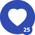 25th Love Given Badge