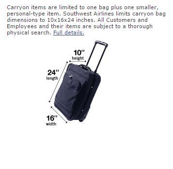 Solved: Carry-on luggage - The Southwest Airlines Community