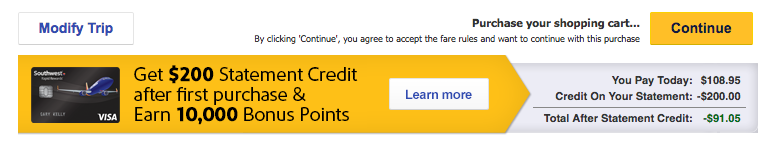 Solved: Using New Rapid Reward Credit Card - The Southwest