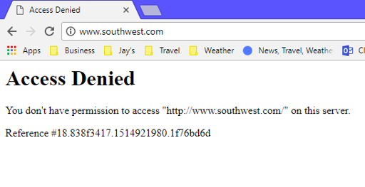 Solved: Permission to access your site denied - The Southwest