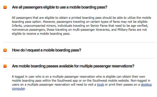 Mobile Boarding Passes For Multiple Passengers The Southwest