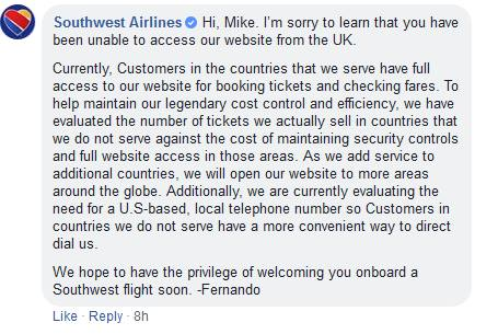 Solved: Website access - The Southwest Airlines Community